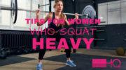 women who squat heavy